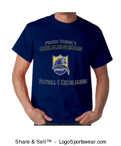 PG Charger Blue T-Shirt Design Zoom